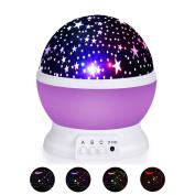 Rotating Starry Sky Baby Nightlight Projector,HEXU Moon Star Galaxy Kid Lamp,Christmas Birthday Gift