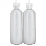 MoYo Natural Labs 470ml Squirt Bottles, Squeezable Refillable Containers Turret Caps, BPA Free HDPE Plastic for Essential Oils and Liquids, Toiletry/Cosmetic Bottles
