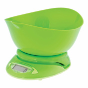 amco Kitchen Scales & Baking Bowl Electric Digital 5KG with Lipped Mixing Bowl - Graduation 1g   0.1fl.oz   0.1oz   1ml - Large Display. Colour