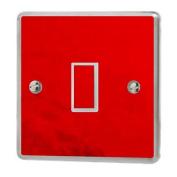 Red Chrome Gloss Light Switch Sticker Vinyl / Skin cover