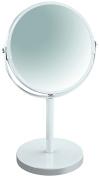 Spirella Makeup and Shaving Round Swivel Pedestal Mirror, White