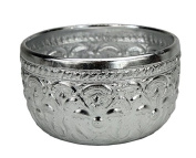 Traditional Thai Metal Drinking Cup, 10cm. Aluminium.