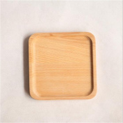 Haodasi Child Kid Beech Small Wooden Plate Tray Wood Tray For Bread Pizza Fruit #1 Square