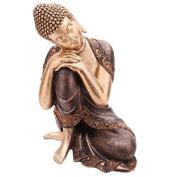 Statua in resina Buddha Thailandese Oro e Marrone 29cm