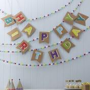 Ginger Ray Happy Birthday Kraft Bunting - Happy Birthday Kraft