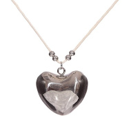 Puckator ang143 Collection Guardian Angel Heart Pendant Metal Necklace Silver 3 X 1.5 X 32 Cm