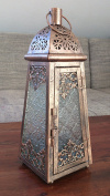 Moroccan Style Lantern - Detailed Copper