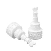 48 Wedding Cake Bubble Wand Favours Table Decoration Party Accessories
