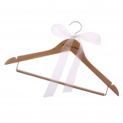 MagiDeal Wedding Hanger Wedding Bride Grooms Gift Wedding Clothes Wood Hanger for Decor