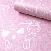HOYOYO 43cm x 200cm Self-Adhesive Shelf Liner, Moisture Proof Drawer Paper Shelf Liner Mildew Proof Antifouling Contact Paper, Pink Animals