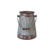 Park Designs Lexington Crimped Galvanised Milk Bucket Caddy Vase
