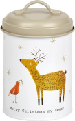 Ideal Home Range DAK744500 Holiday Fillable Cookie Tin, Merry Christmas My Deer