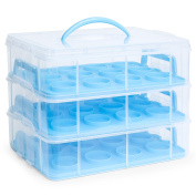 Best Choice Products 3-Tier Cake and Cupcake Holder Carrier Container
