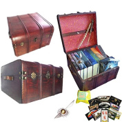 Hogwarts Harry Potter Book and DVD Trunk with Free Golden Snicth Splat and Stickers