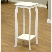 80cm Transitional Eco Friendly Entryway Telephone/Plant Stand in White