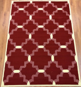 Antep Rugs Kashan King Collection 513 Area Rug Maroon and Cream 1.5m X 2.1m