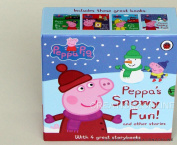 PEPPA PIG PEPPAS SNOW FUN 4 BOOK BOXED SET HARD COVER AGES 3 + BRAND NEW