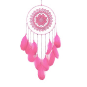 Dream Catcher, Sacow Handmade Lace Dream Catcher Feather Bead Campanula Hanging Decoration Ornament Gift