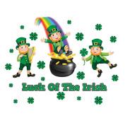Garage Door Magnets Set Decoration - Luck of the Irish Leprechauns & Shamrocks