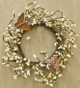 Citron Pip Berry & Rusty Butterfly Ring Mini Wreath Country Primitive Floral Décor