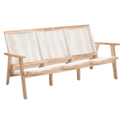 Brika Home Outdoor Sofa in White Wash and White