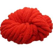 Celine lin Super Soft Chunky Roving Big Yarn for Hand Knitting Crochet, 250g(8.8 Ounze),Red