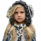 Baby Knitted Hat,Sansee Winter Wool Knitted Handmade Hats Baby Girls Shawls Hooded Cowl Beanie Caps