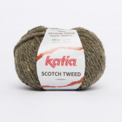 Katia Scotch Tweed Aran colour 70 Pistachio 60% Wool 20% Viscose 20% Polyamide 50g ball, 95 metres on using 4.5 - 5mm Needles or 5mm crochet hook