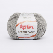 Katia Scotch Tweed Aran colour 64 Light Grey 60% Wool 20% Viscose 20% Polyamide 50g ball, 95 metres on using 4.5 - 5mm Needles or 5mm crochet hook
