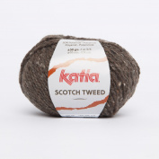 Katia Scotch Tweed Aran colour 60 Dark Mink 60% Wool 20% Viscose 20% Polyamide 50g ball, 95 metres on using 4.5 - 5mm Needles or 5mm crochet hook