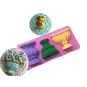 Fablcrew Cute Vase Fondant Mould Silicone DIY Chocolate Jelly Moulds Kitchen Sugarcraft Cake Decorating Tools