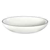 ASA 1904113 Ligne Noire Pasta/Soup Bowl, Porcelain, White, 22 x 22 x 4.5 cm