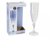 Clear Crystal Effect Plastic Champagne Flute Drinking Glass Cocktail Prosecco