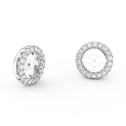 Fusion 18ct White Gold Diamond Halo Earring Jackets