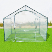 Sunrise Umbrella Outdoor Plant Gardening 3.5L x 5.9W x 5H ft. Mini Greenhouse