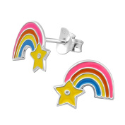Laimons Kids Childrens' Earrings Childrens' Jewellery rainbow colourful 925 Sterling silver