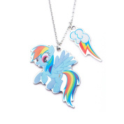 MY LITTLE PONY STAINLESS STEEL DUAL PENDANT NECKLACE