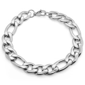 SoulCats® Firgaro-bracelet for men and women made of stainless steel silver, many different thicknesss