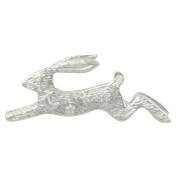 Moon Gazer Silver Tone Hare Pin Brooch With Gift Box