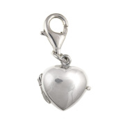 Opening Heart Locket Sterling Silver Clip-On Charm - For Thomas Sabo Style Charm Bracelets