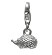 925 Sterling Silver Hedgehog Clip On Charm