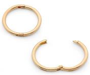 365 Sleepers 1 Pair 22ct Gold Plated Solid Sterling Silver 10mm Hinged Hoop Sleepers Earrings Made in Australia