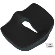 Gideon Coccyx Cushion Orthopaedic Tailbone Seat Cushion for Office Chair, Car, Truck, Wheelchairs, etc. - Provides Relief for Lower Back Pain, Tailbone, Sciatica, Pelvic Pain, Prostate, etc.[UPGRADED]