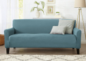 Form Fit, Slip Resistant, Stylish Furniture Cover / Protector Featuring Lightweight Stretch Twill Fabric. Brenna Collection Strapless Slipcover. By Home Fashion Designs.