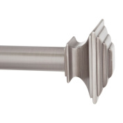Kenney KN85246 Mission Curtain Rod, 120cm - 220cm , Pewter