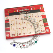 DIY Toys Advent Calendar Charm Necklace Bracelet Made with DIY Beads For HEYMA