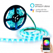 YIHONG LED Light Strip Alexa Lights RGB Strip Lights LED Tape Lights 150 5050 SMD Smart Wifi Control Google Home Compatible