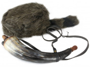 WellPackBox Davy Crockett Daniel Boone Raccoon Tail Hat Fake Fur - Powder Horn Costume