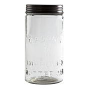 Tag Copper Lid 1660ml Glass Mason Jar Canister Treat Food Snacks