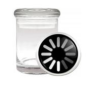 Loading Spinning Wheel Medical Odourless Glass Jar